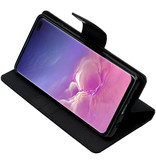 Mercury Goospery Canvas Diary Booktype voor de Samsung Galaxy S10 Plus - Zwart