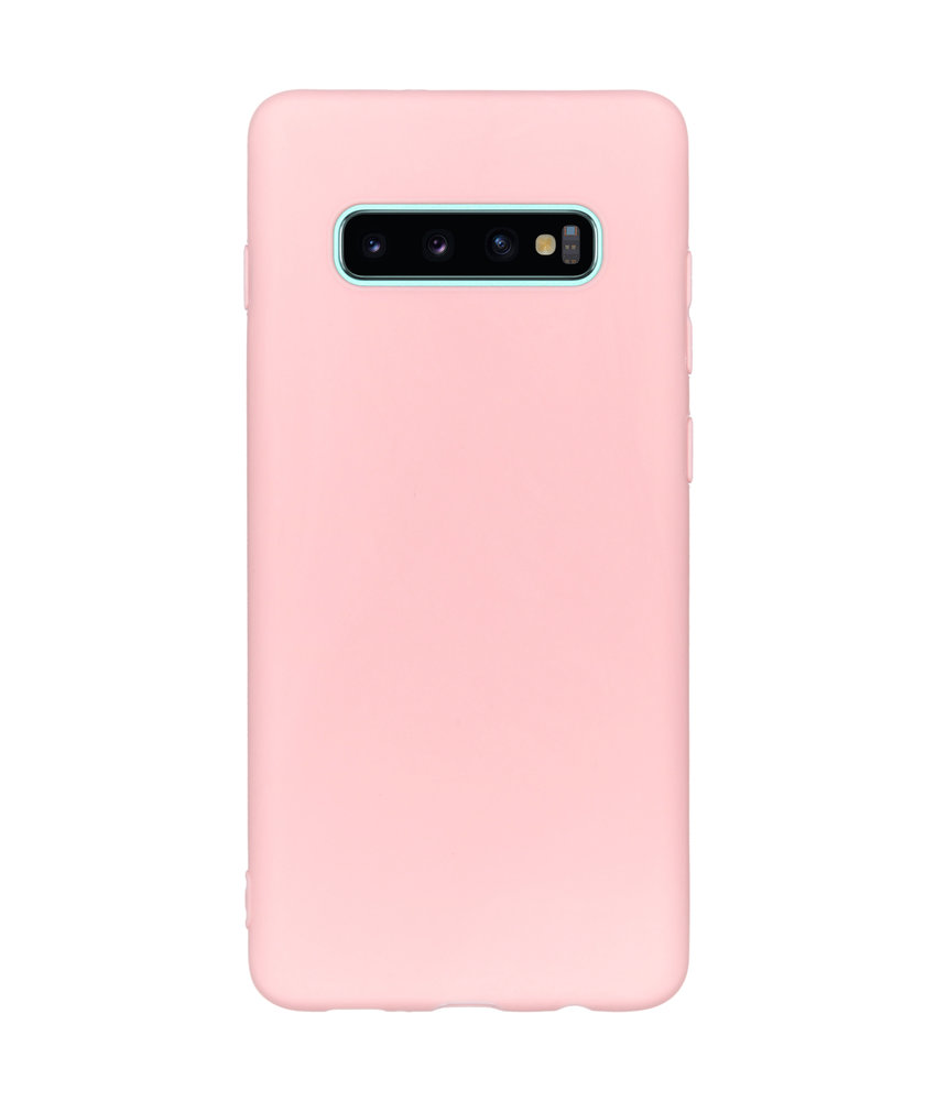 Color Backcover Samsung Galaxy S10 Plus - Roze