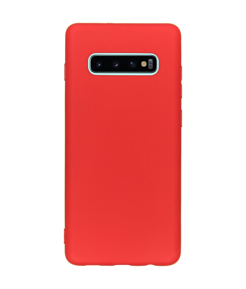 Color Backcover Samsung Galaxy S10 Plus - Rood