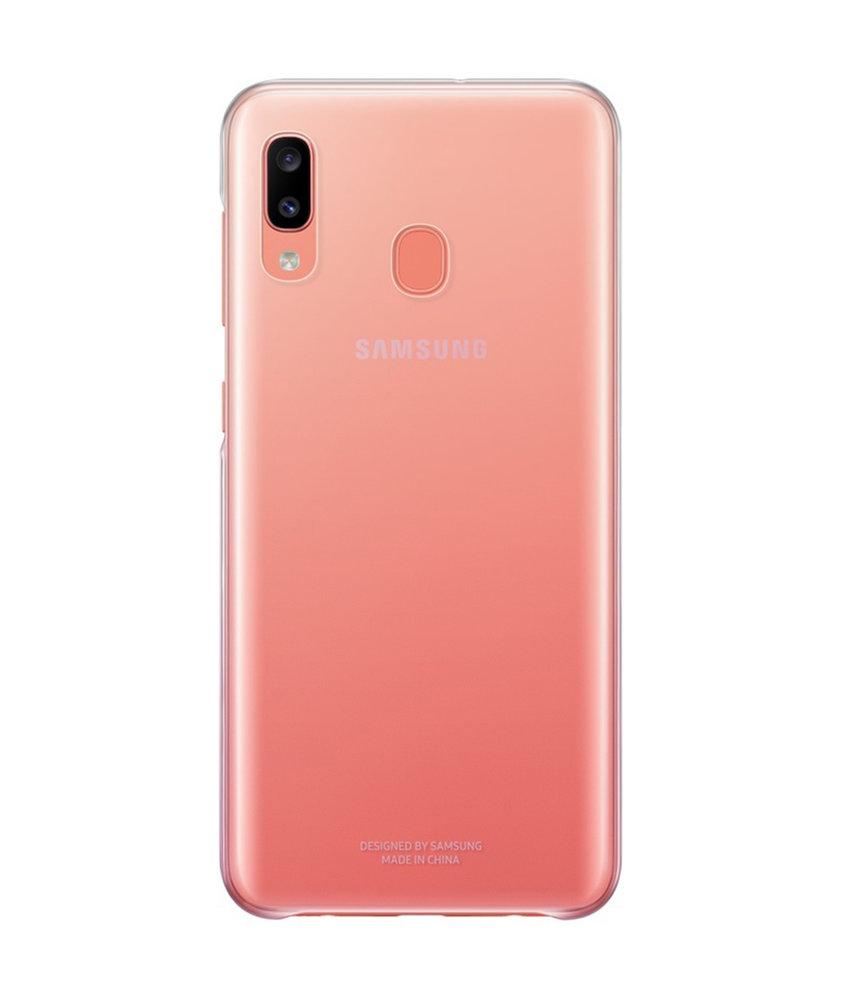 Samsung Gradation Backcover Galaxy A20e - Roze