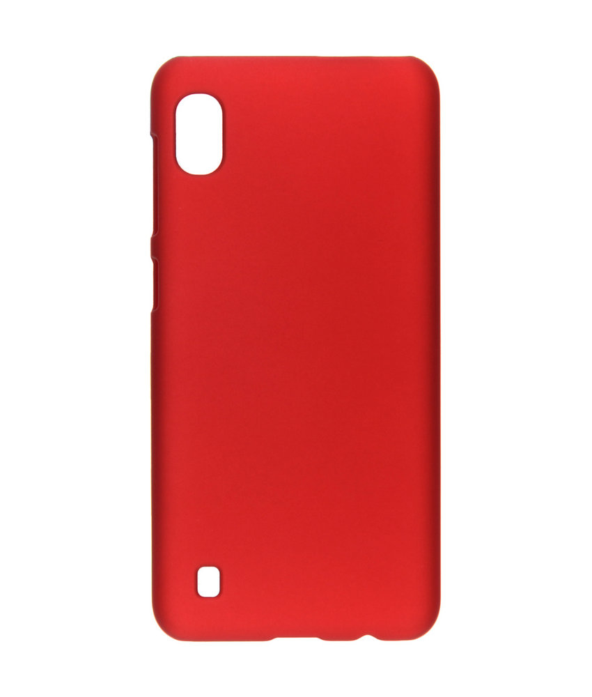 Effen Backcover Samsung Galaxy A10 - Rood