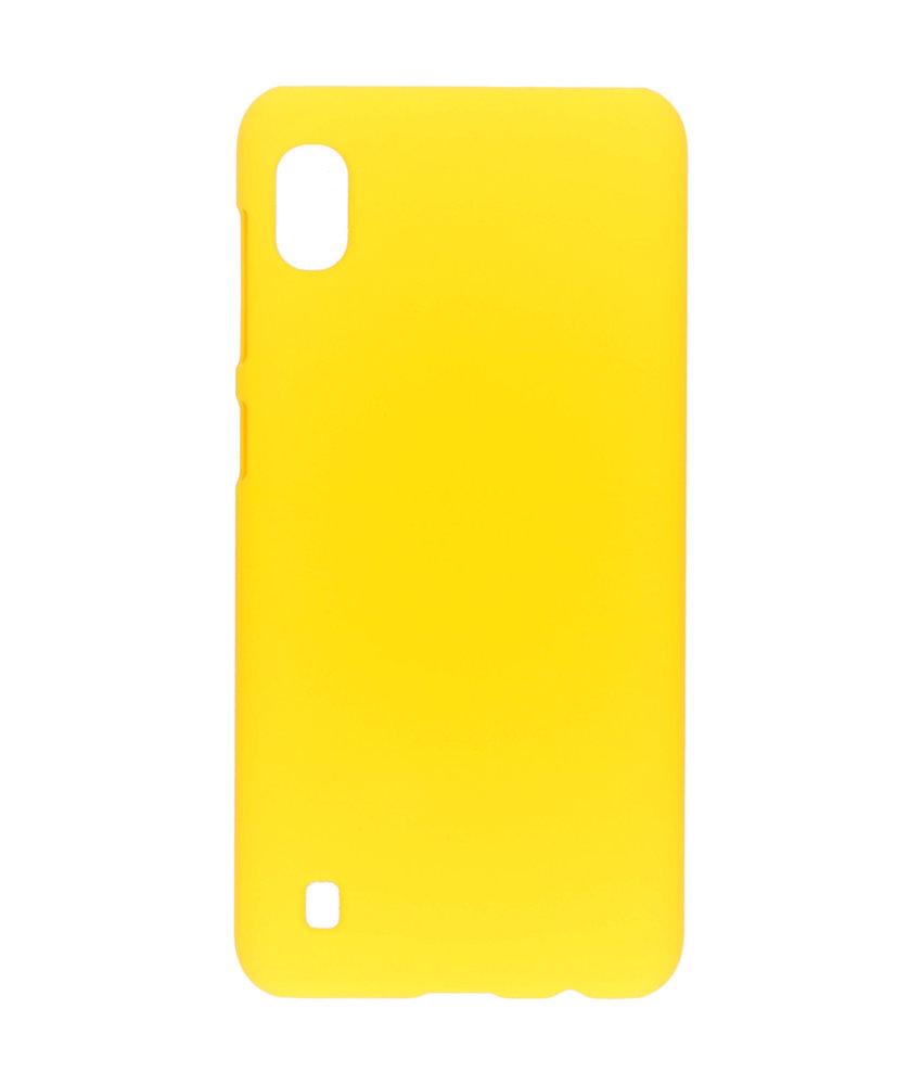 Effen Backcover Samsung Galaxy A10 - Geel