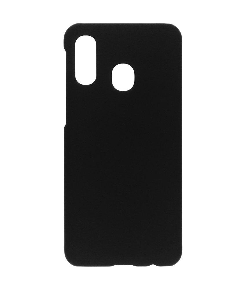 Effen Backcover Samsung Galaxy A40 - Zwart
