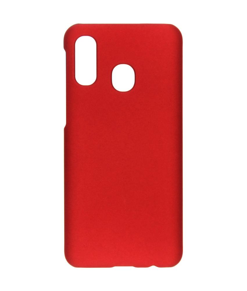Effen Backcover Samsung Galaxy A40 - Rood