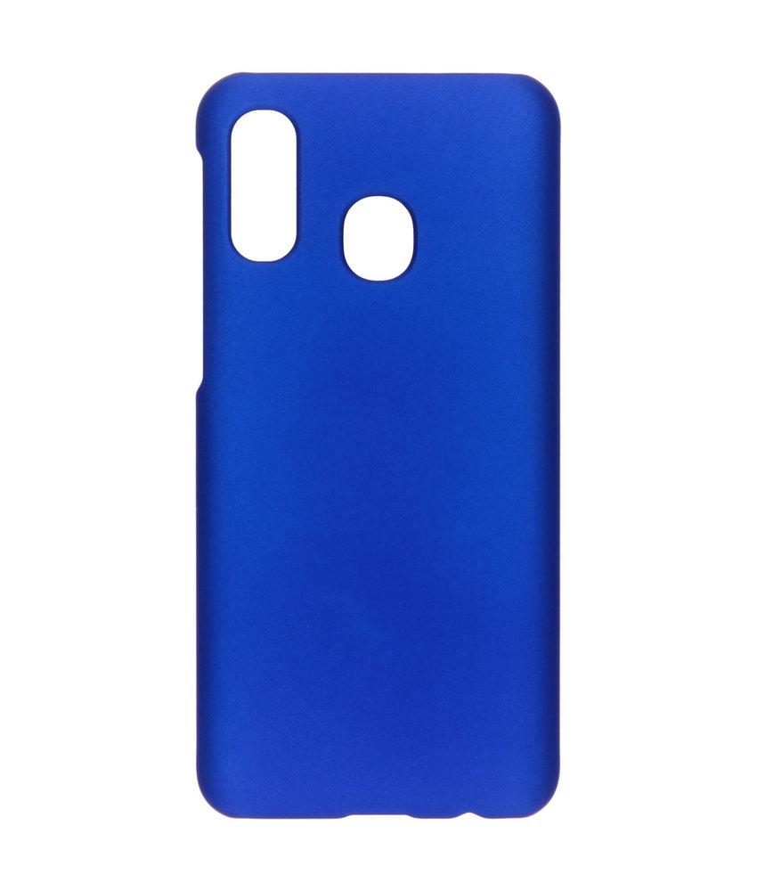 Effen Backcover Samsung Galaxy A40 - Donkerblauw