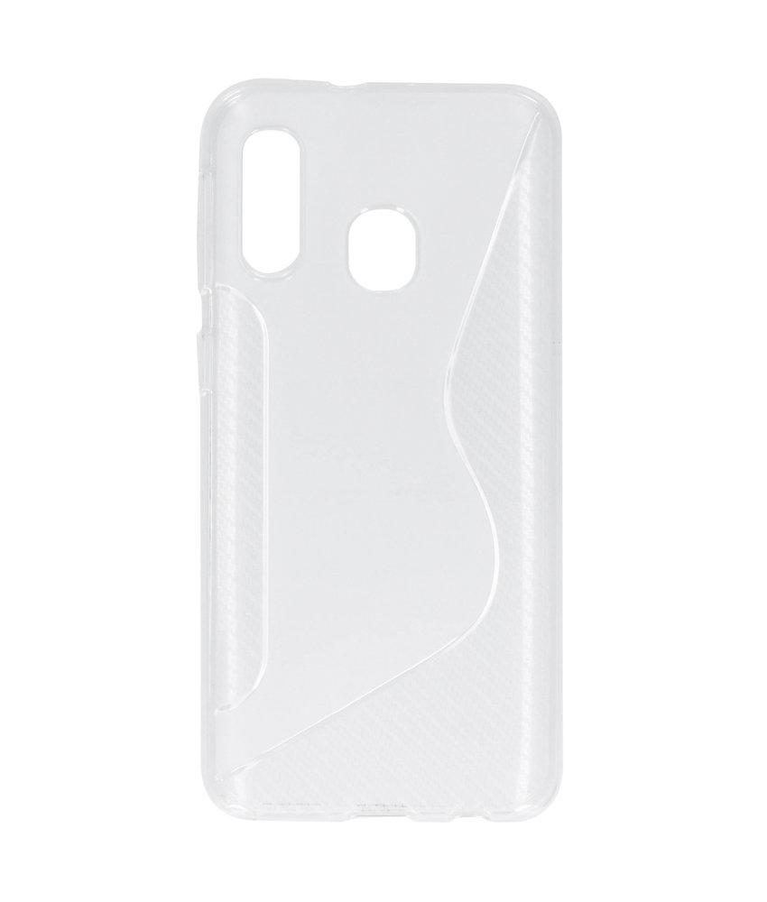 S-line Backcover Samsung Galaxy A40 - Transparant