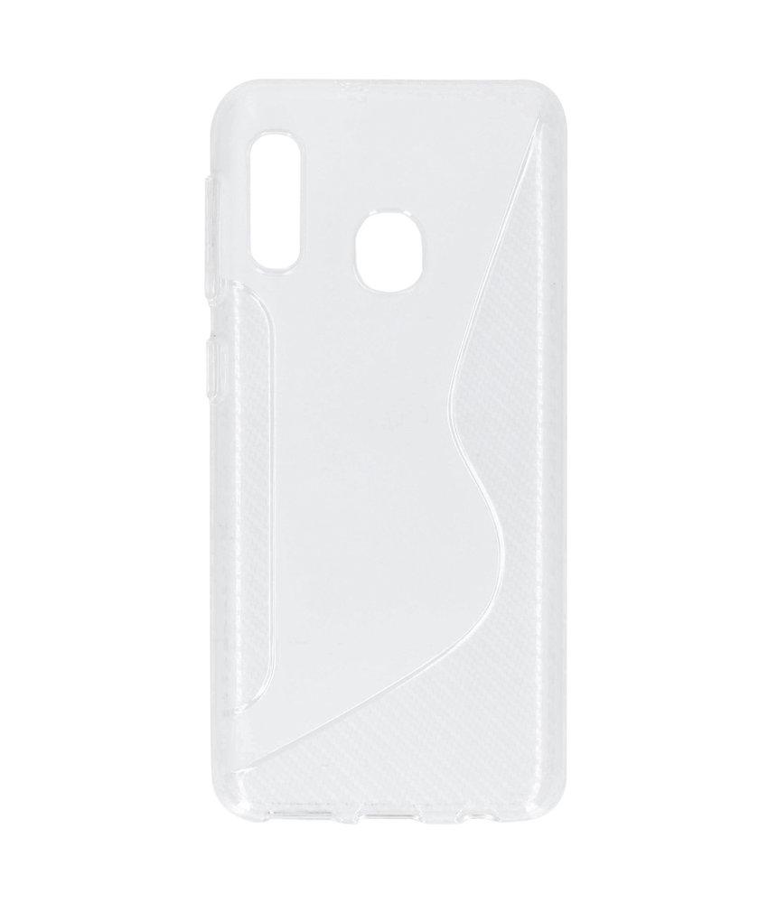 S-line Backcover Samsung Galaxy A20e - Transparant