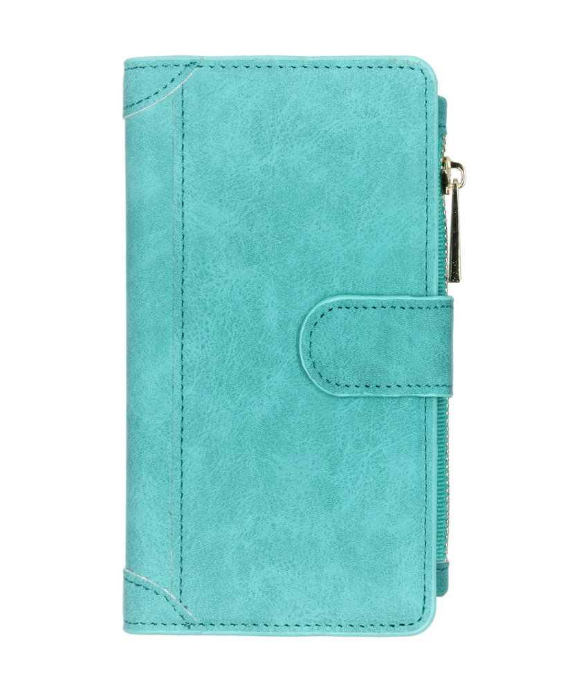 Luxe Portemonnee Samsung Galaxy A40 - Turquoise