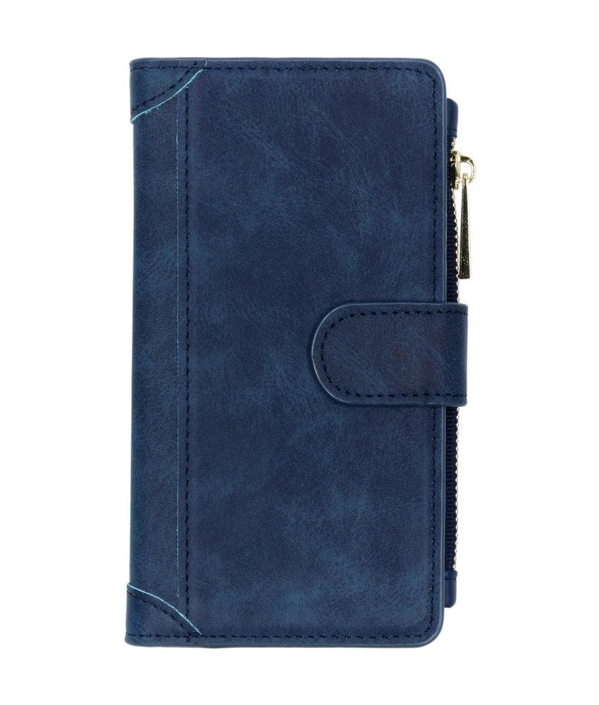Luxe Portemonnee Samsung Galaxy A40 - Donkerblauw