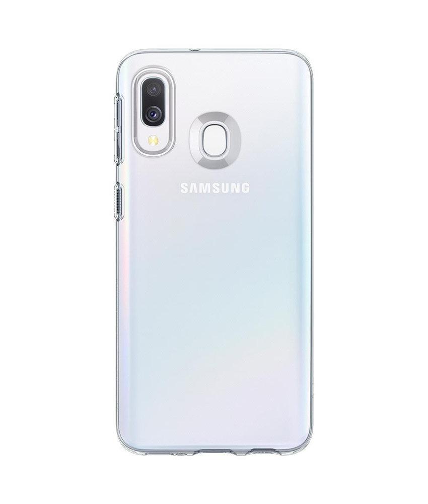 Spigen Liquid Crystal Backcover Samsung Galaxy A40 - Transparant