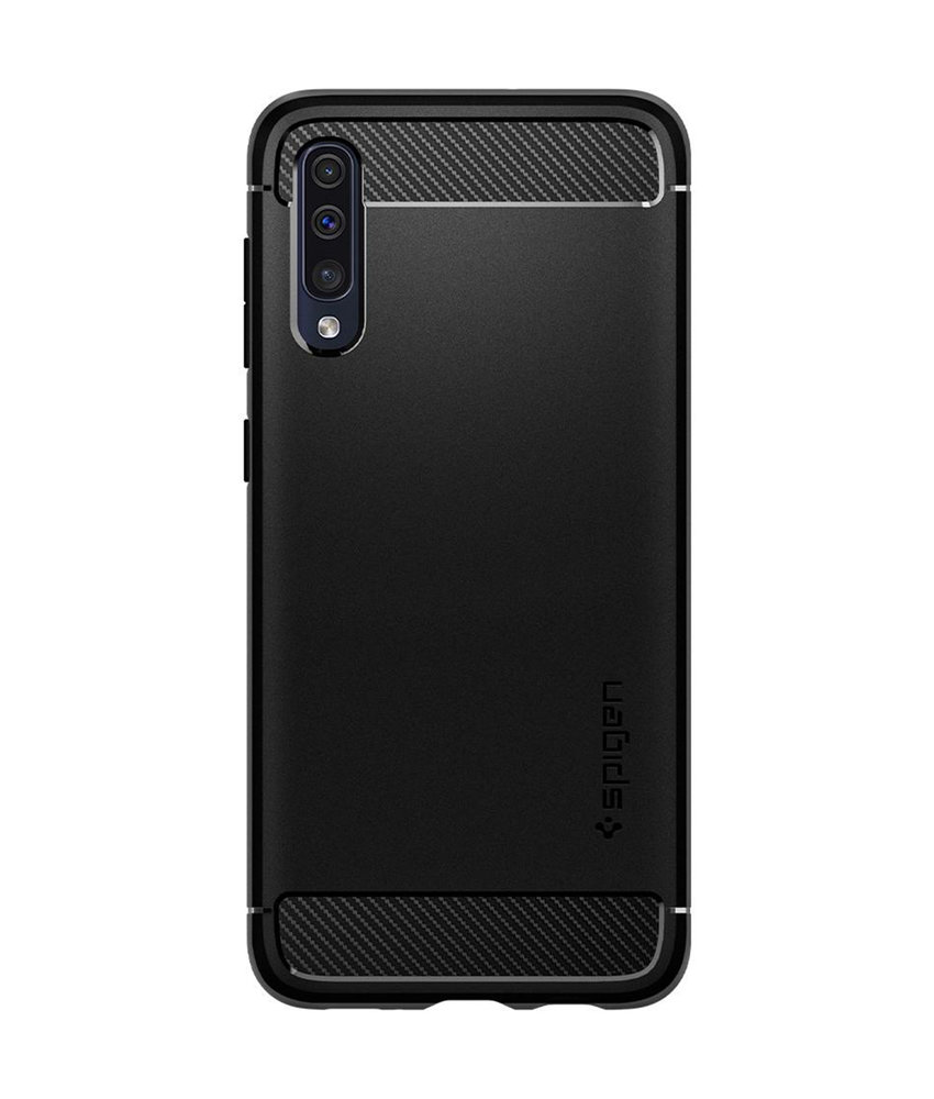 Spigen Rugged Armor Backcover Samsung Galaxy A50 - Zwart