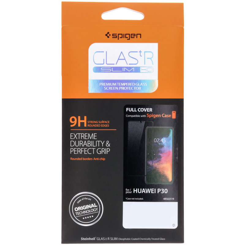 Spigen GLAStR Full Cover Screenprotector Huawei P30 - Zwart