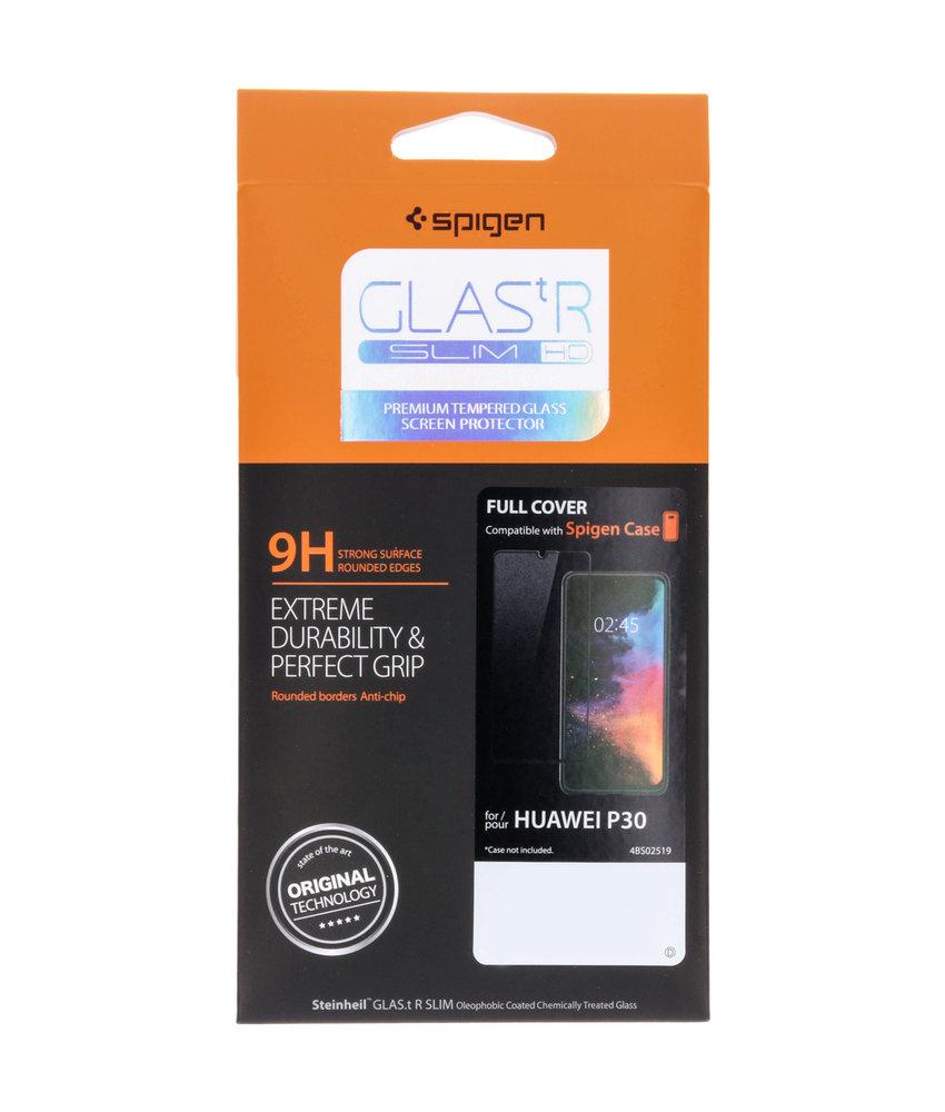 Spigen GLAStR Full Cover Screenprotector Huawei P30 - Zwart