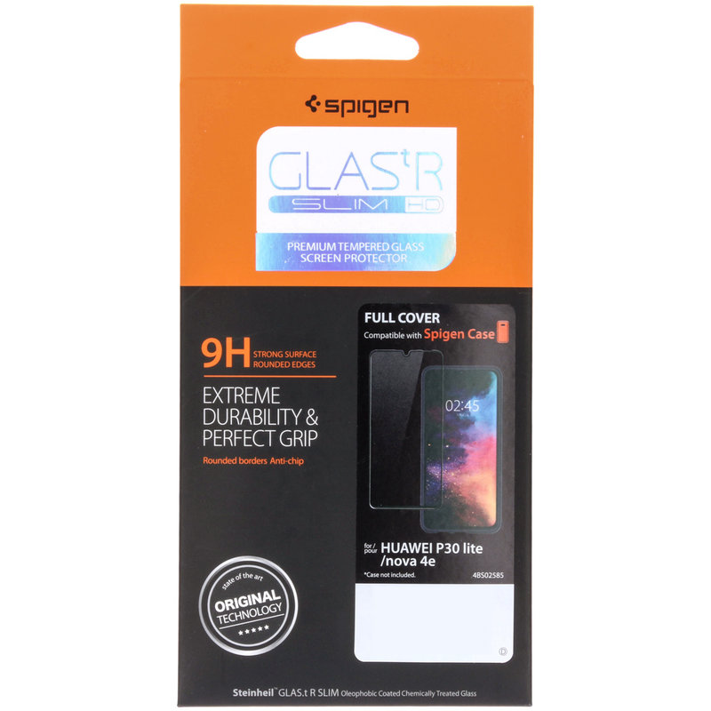 Spigen GLAStR Full Cover Screenprotector Huawei P30 Lite - Zwart