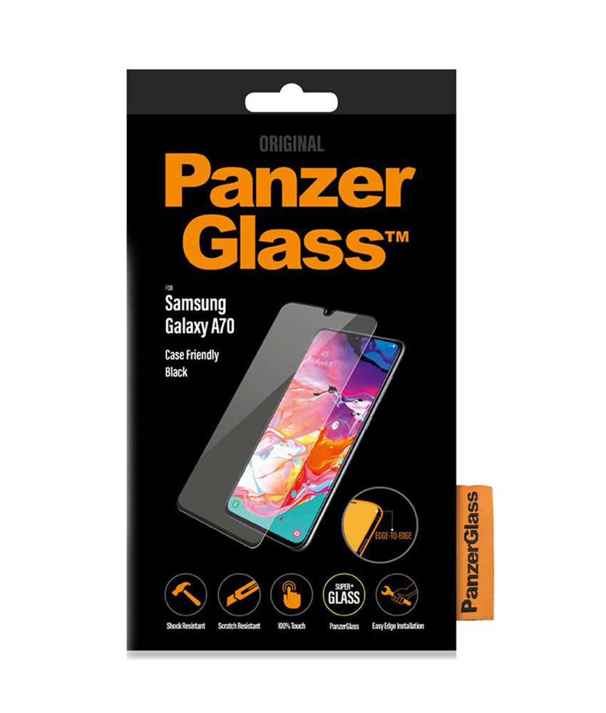 PanzerGlass Case Friendly Screenprotector Samsung Galaxy A70 - Zwart