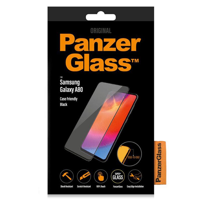 PanzerGlass Case Friendly Screenprotector Samsung Galaxy A80 - Zwart