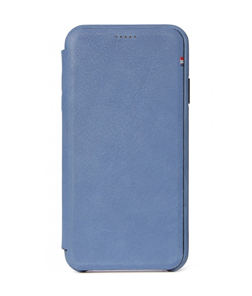 Decoded Leather Slim Wallet iPhone Xs Max - Blauw