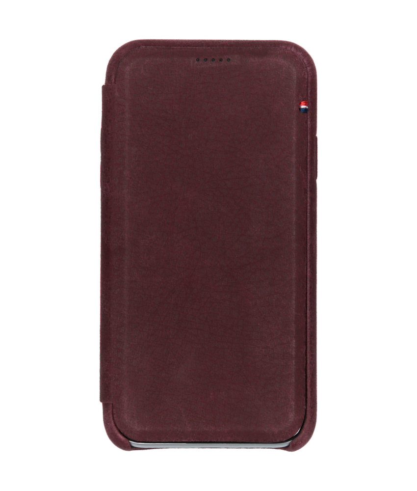 Decoded Leather Slim Wallet iPhone Xr - Paars