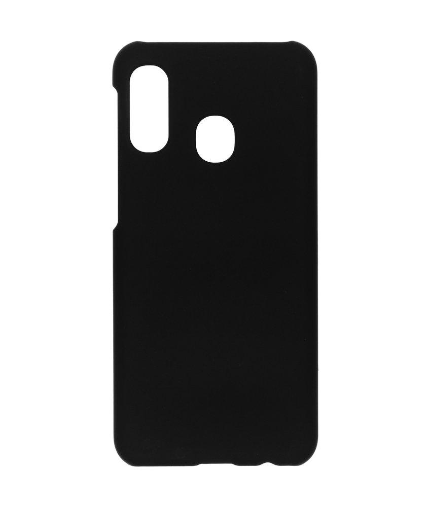 Effen Backcover Samsung Galaxy A20e - Zwart