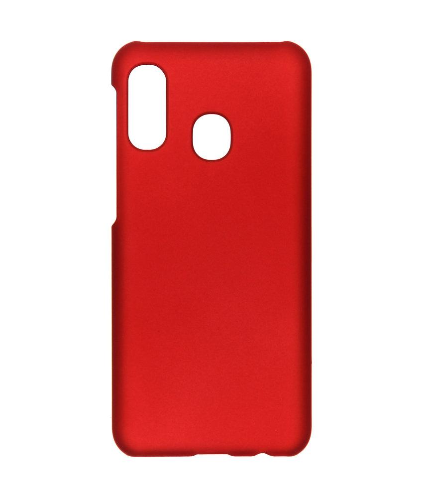 Effen Backcover Samsung Galaxy A20e - Rood
