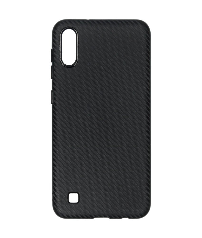 Carbon Softcase Backcover Samsung Galaxy A10 - Zwart