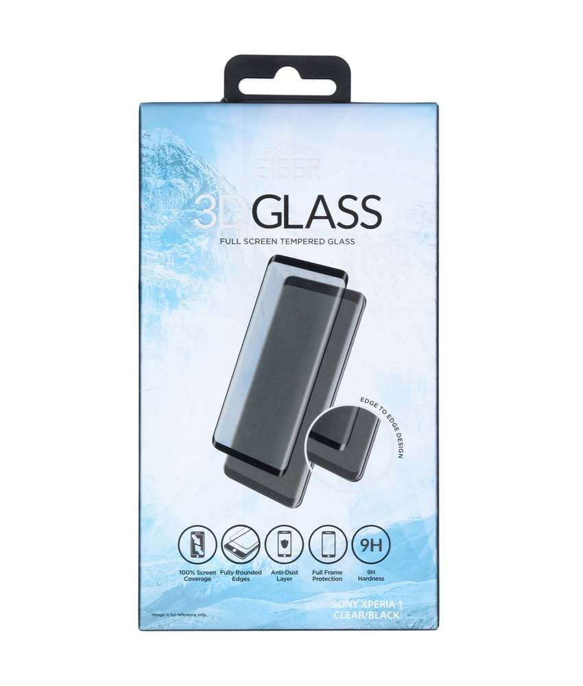 Eiger Tempered Glass Screenprotector Sony Xperia 1 - Zwart
