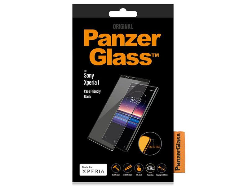 PanzerGlass Case Friendly Screenprotector voor de Sony Xperia 1 - Zwart
