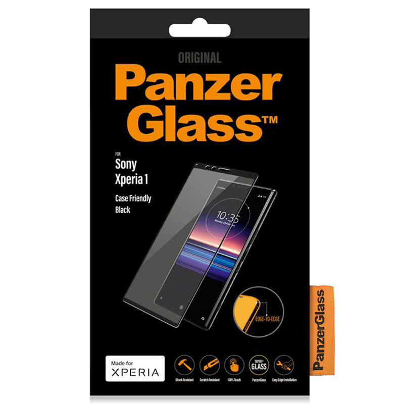 PanzerGlass Case Friendly Screenprotector Sony Xperia 1 - Zwart