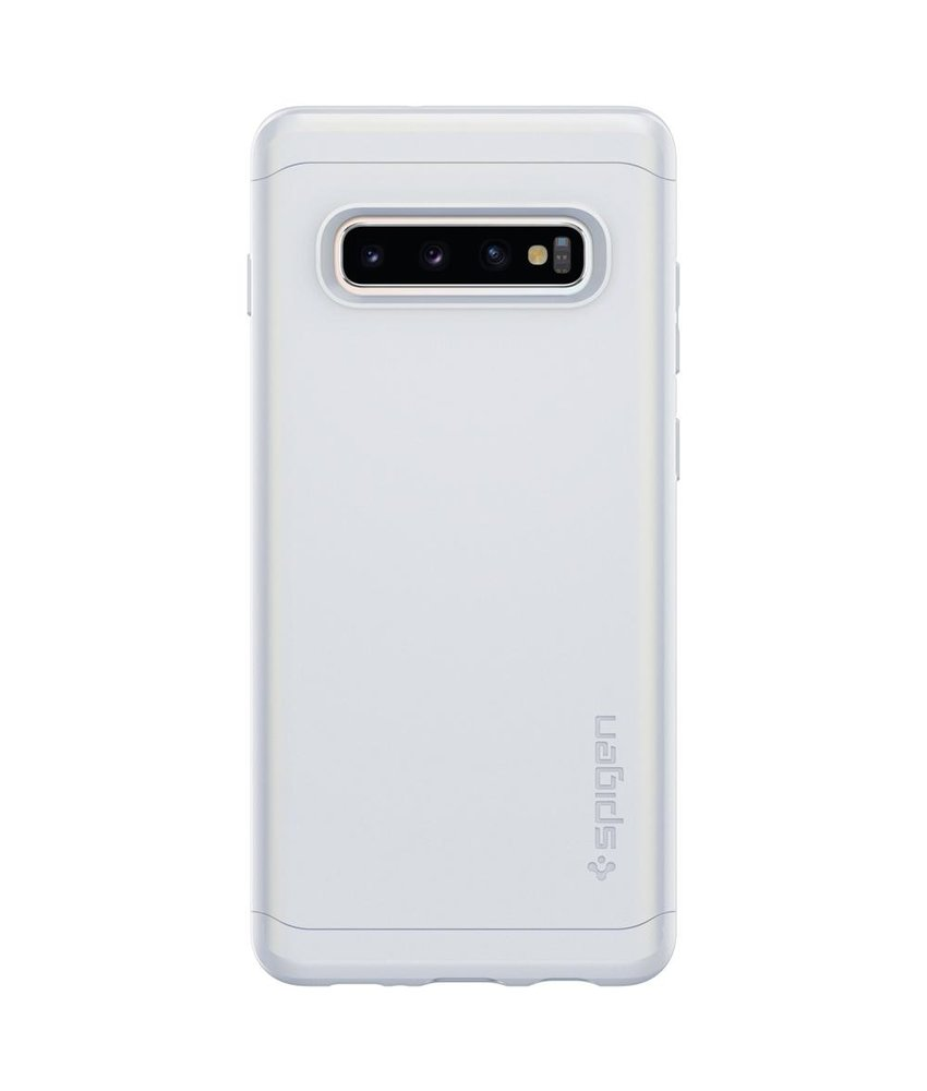 Spigen Thin Fit Classic Backcover Samsung Galaxy S10 Plus - Wit