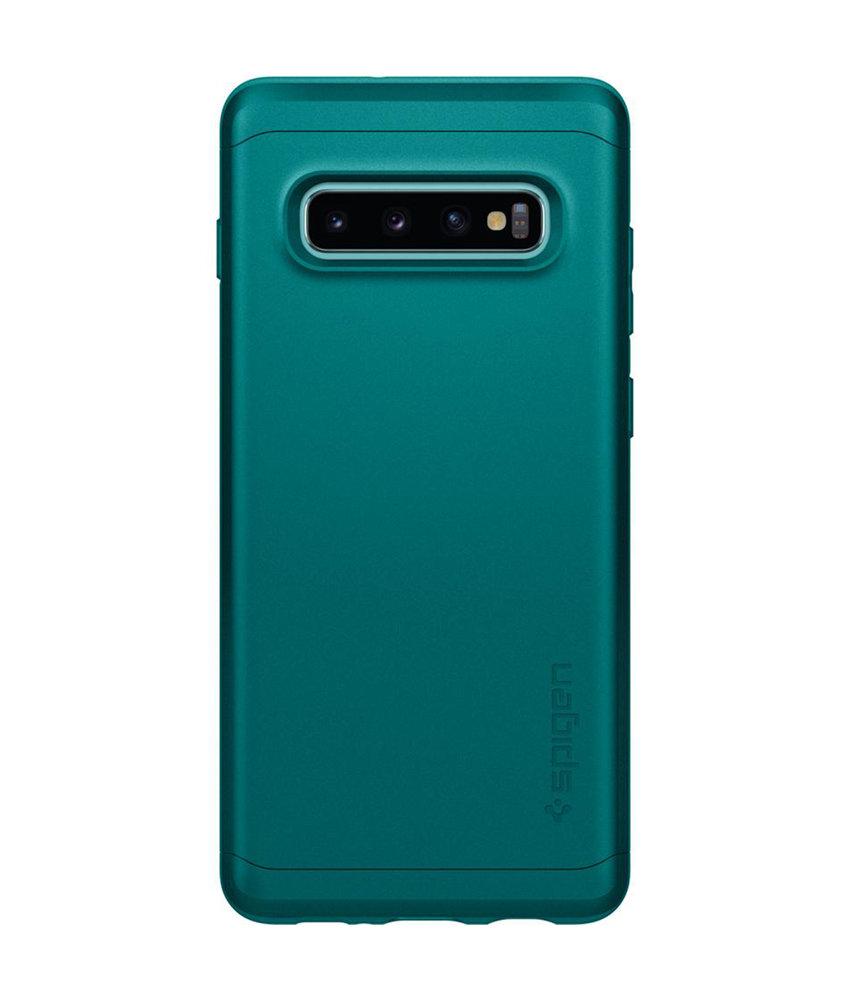 Spigen Thin Fit Classic Backcover Samsung Galaxy S10 - Groen
