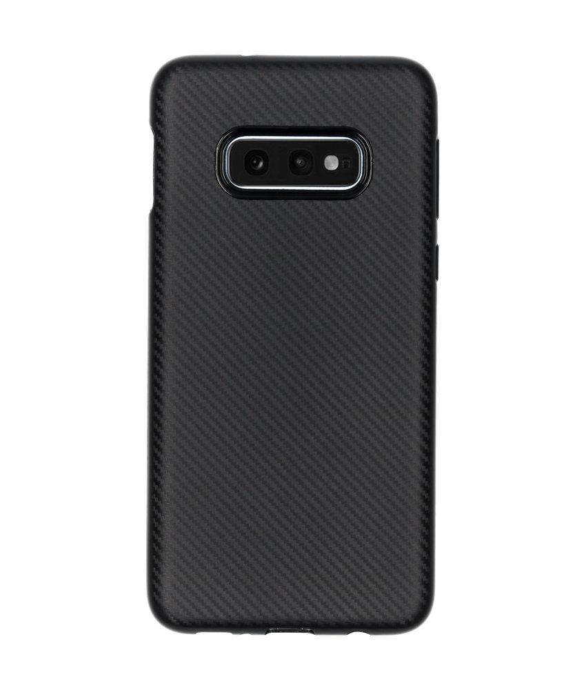 Carbon Softcase Backcover Samsung Galaxy S10e - Zwart