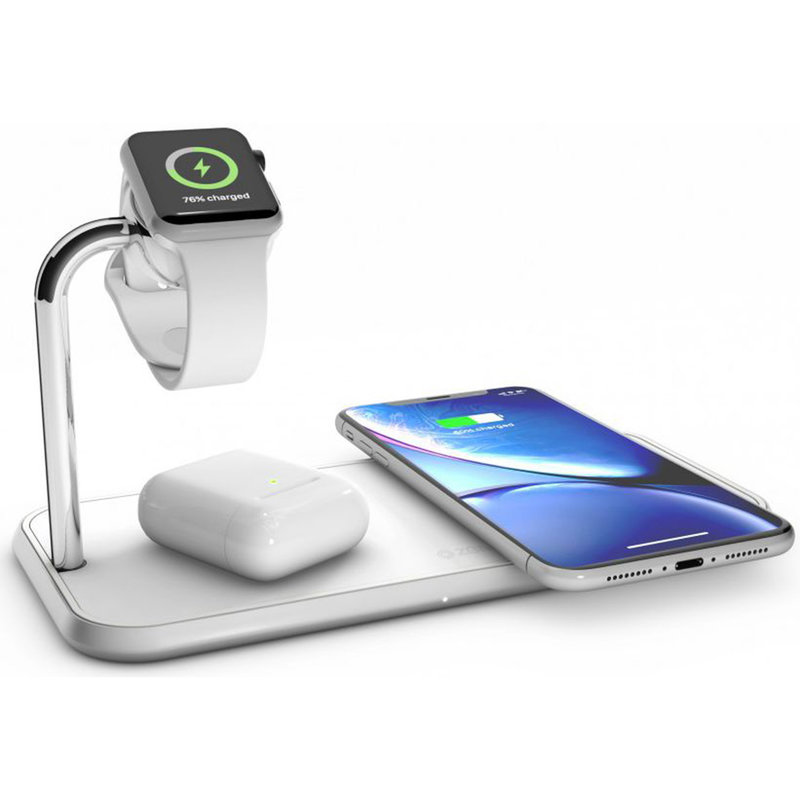 Zens Dual + Watch Fast Wireless Charger - 20 Watt - Wit