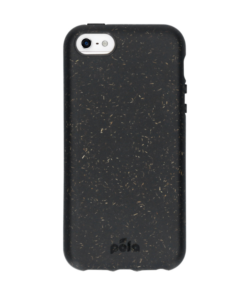 Pela Eco-Friendly Softcase Backcover iPhone SE / 5 / 5s - Zwart