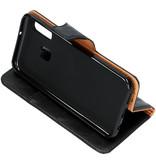 Zakelijke Softcase Booktype voor de Samsung Galaxy A20e - Zwart
