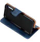 Zakelijke Softcase Booktype voor de Samsung Galaxy A20e - Blauw