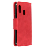 Zakelijke Softcase Booktype voor de Samsung Galaxy A20e - Rood