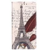Design Softcase Booktype voor de Samsung Galaxy A20e - Parijs Eiffel Tower