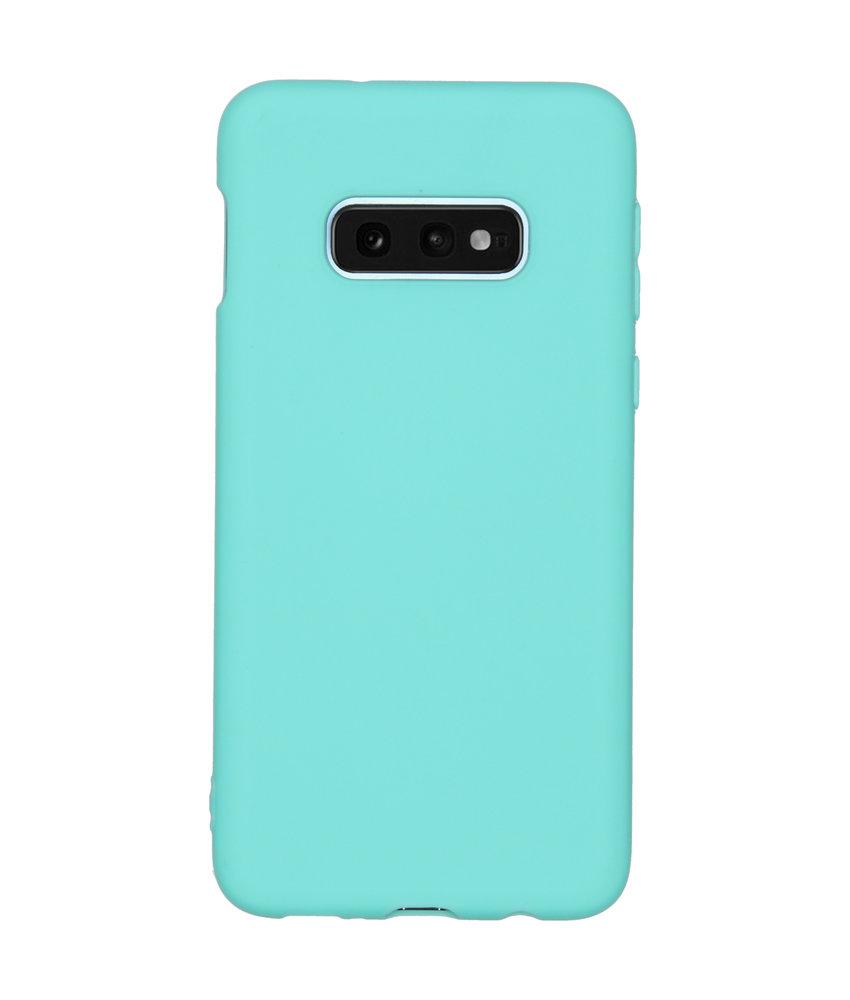 Color Backcover Samsung Galaxy S10e - Mintgroen