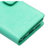 Mercury Goospery Mansoor Wallet Diary Booktype voor de iPhone 6 / 6s - Mintgroen