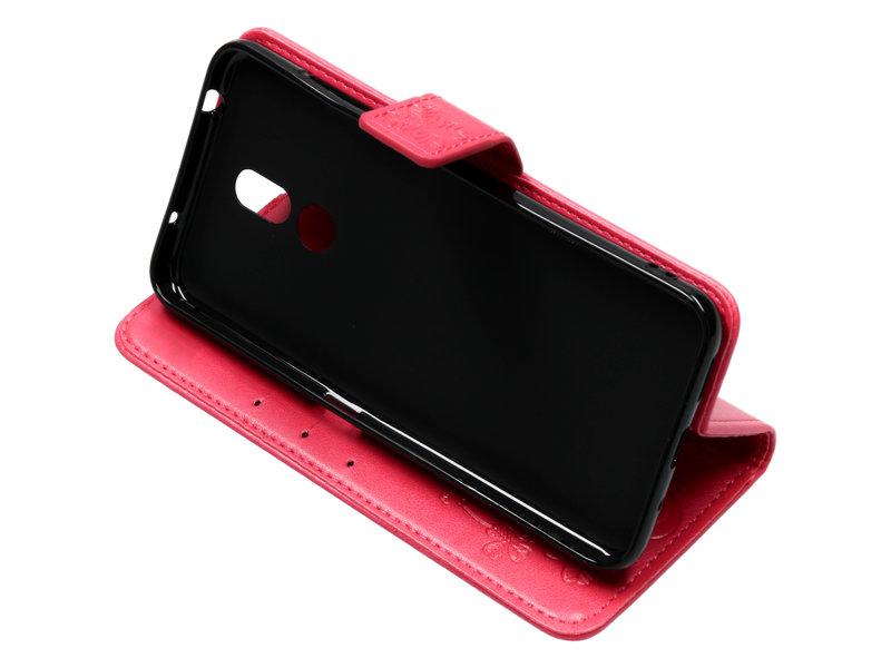 Nokia 3.2 hoesje - Klavertje Bloemen Booktype voor