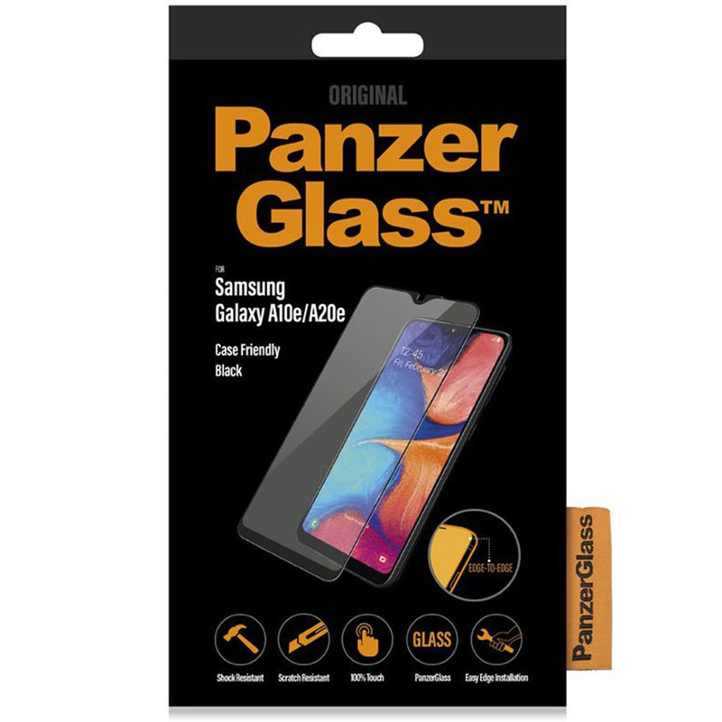 PanzerGlass Case Friendly Screenprotector Galaxy A20e - Zwart