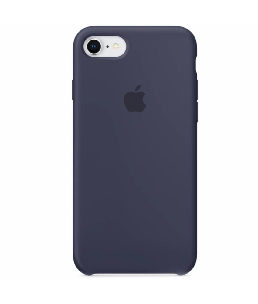 Apple Silicone Backcover iPhone 8 / 7 - Donkerblauw