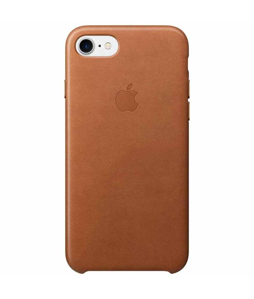 Apple Leather Backcover iPhone 8 / 7 - Bruin