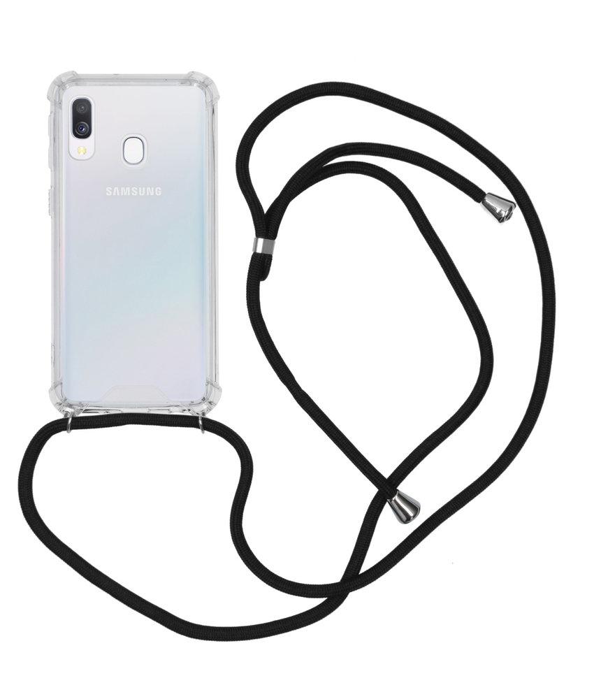 Backcover met koord Samsung Galaxy A40 - Zwart