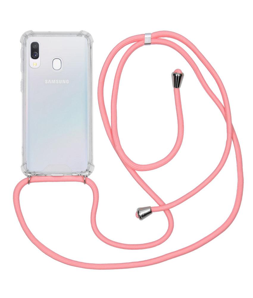 Backcover met koord Samsung Galaxy A40 - Roze