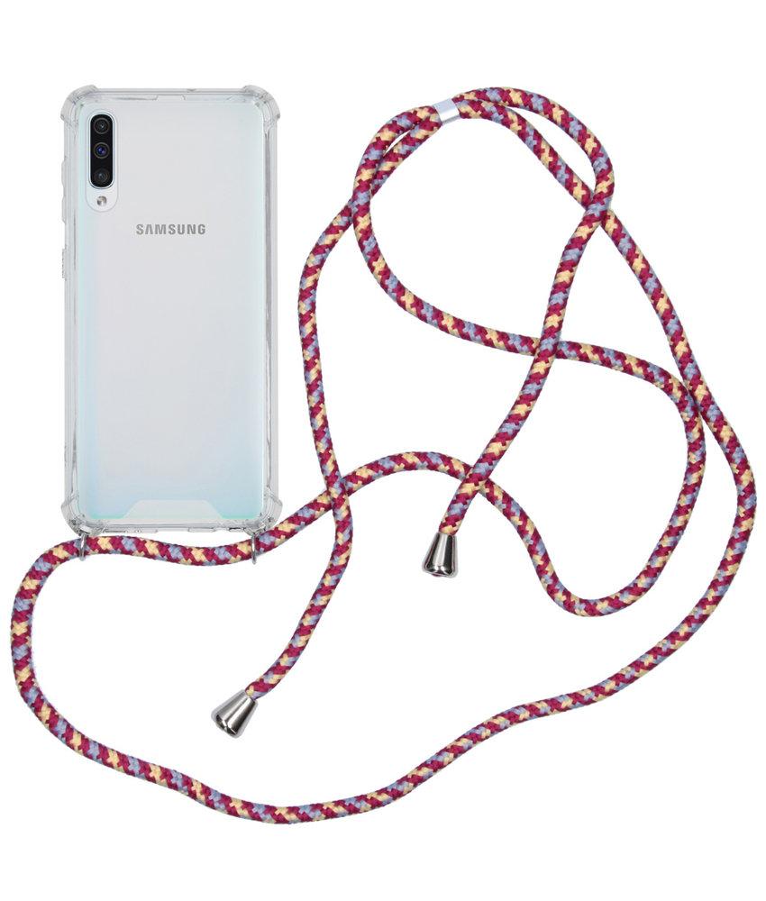 Backcover met koord Samsung Galaxy A50 - Paars
