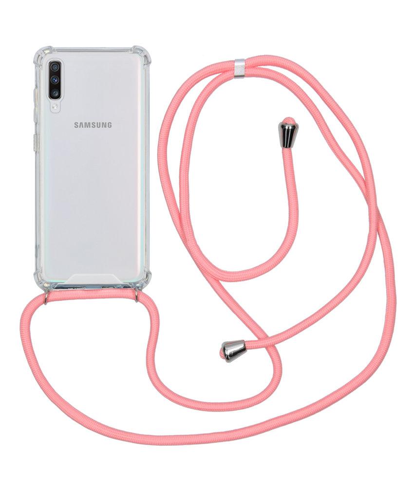 Backcover met koord Samsung Galaxy A70 - Roze