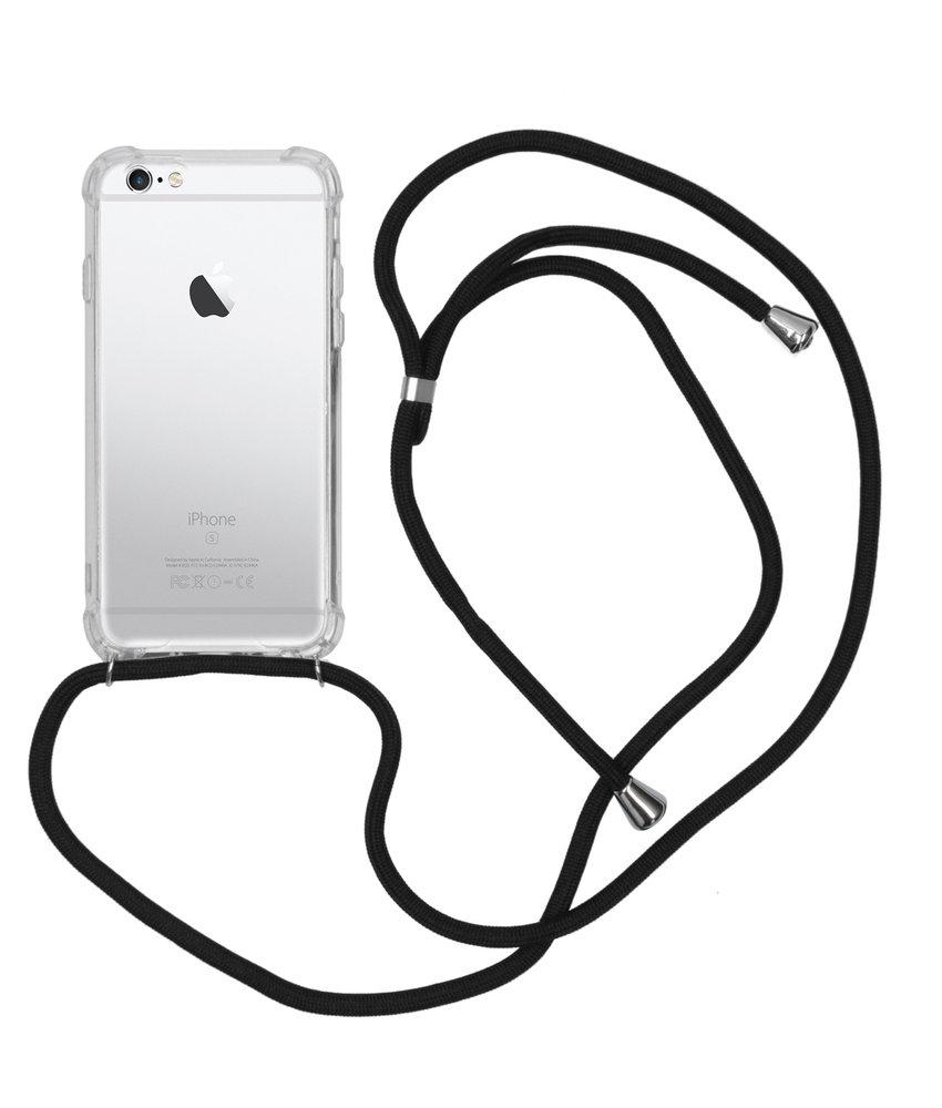 Backcover met koord iPhone 6 / 6s - Zwart
