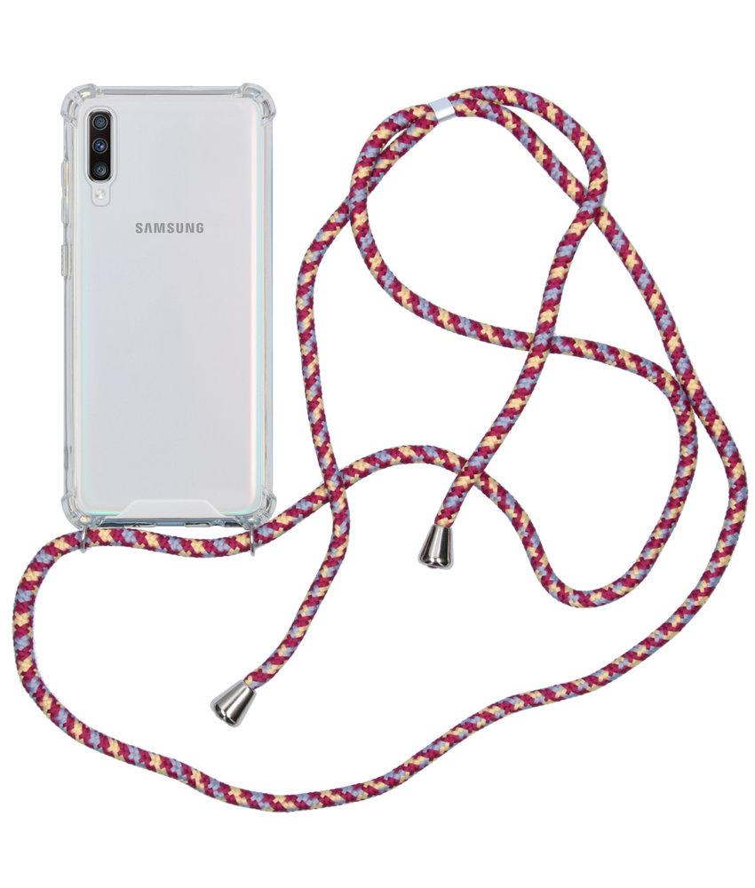 Backcover met koord Samsung Galaxy A70 - Paars