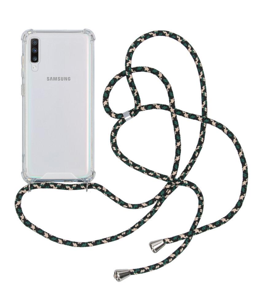 Backcover met koord Samsung Galaxy A70 - Groen